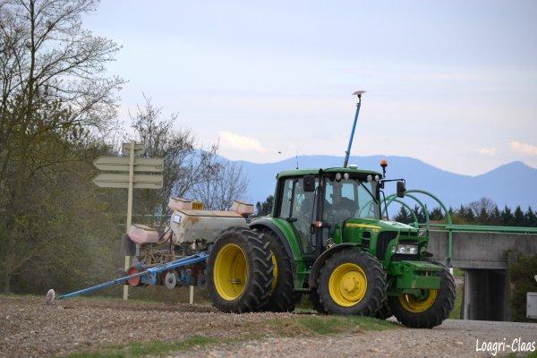 Semis de Maïs 2012 --> --> John Deere 6230 Jumelés Jumelés Arrières