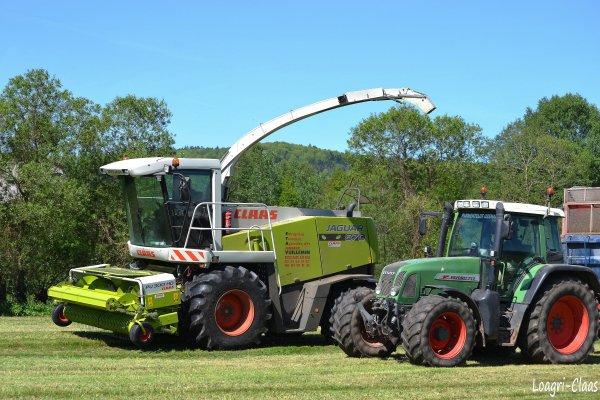 Ensilage d'Herbe  2012 --> --> Claas Jaguar 870 Profistar & Fendt 712 Vario