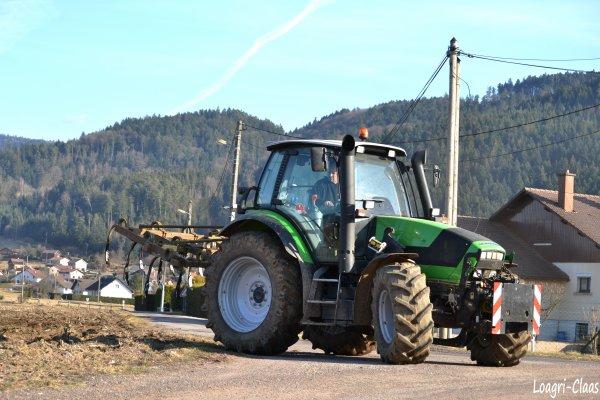 Déchaumage 2012 --> --> Deutz-Fahr Agrotron M600