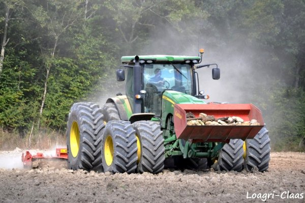 Préparations des Terres 2012 --> --> John Deere 8295r