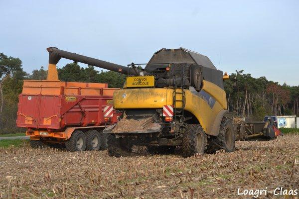 Moisson du Maïs 2012 --> -->  New-Holland CR 9070 Elévation