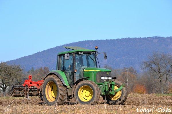 Déchaumage 2012 --> --> John Deere 6220