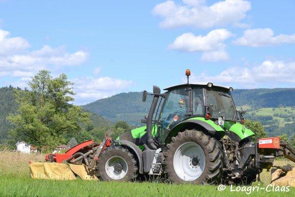 Fauchage 2012 --> --> Deutz-Fahr Agrotron M600