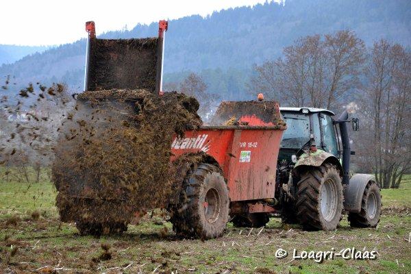 Épandage de Fumier 2013 --> --> Deutz-Fahr Agrotron M 600