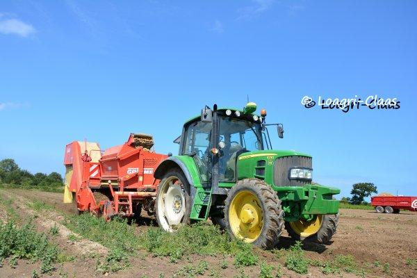 Arrachage de Pommes de Terres 2013 --> --> John Deere 6230 & Grimme