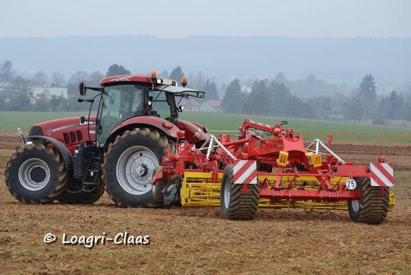 Démonstration de travail du sol / semis --> --> Case Ih Puma170