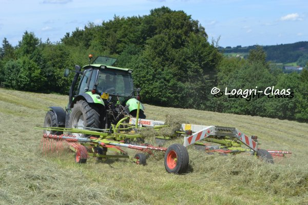 Andainage-Pressage 2013 --> --> Deutz-Fahr Agrotron 120 & New-Holland 8560