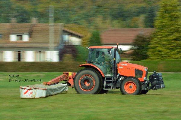 Fauchage 2014 - Kubota M110GX & Kuhn GMD 3510 Lift-Control