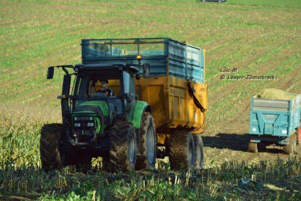 Ensilage de Maïs 2014 - Claas Jaguar 850 Profistar & Krone