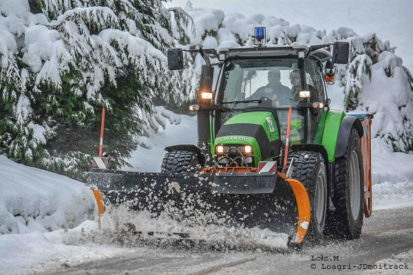 Déneigement 2015 | Deutz-Fahr K610 | Part I