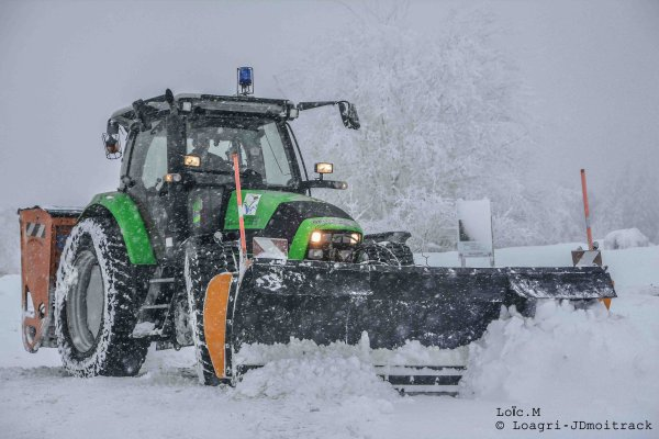 Déneigement 2015 | Deutz-Fahr K610 | Part II