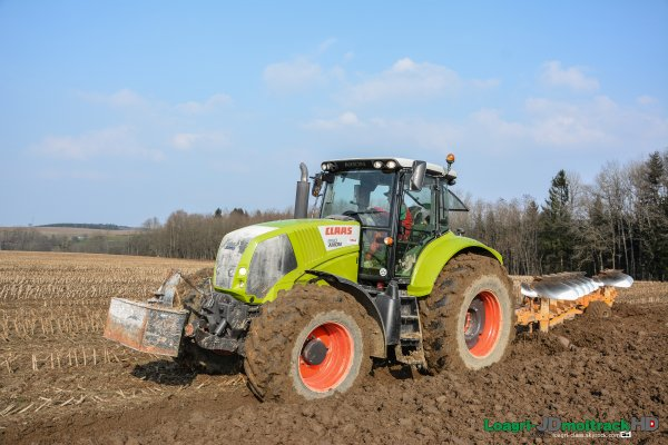 Labour de Printemps 2015 - Claas Axion 850 - ETA Didelot