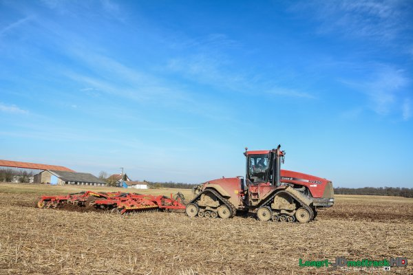 Déchaumage 2015 | Case STX 450 Quadtrac | Väderstad Top Dow 700