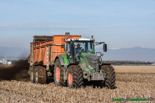 Epandage de Compost | Fendt 828 Vario & Panien UW218
