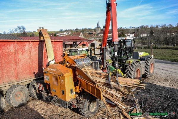 Broyage de Bois | Claas Xérion 5000 Trac VC | Deutz-Fahr 7250 TTV & Fliegl ASW 288 | Fendt 933 Vario Black Beauty & Porte Caisson ITRUNNER