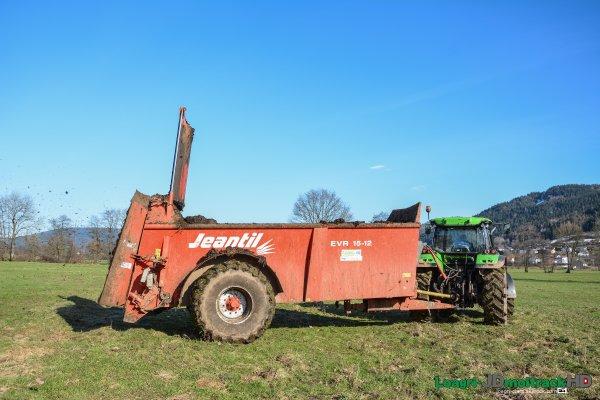 Épandage de Compost | Deutz-Fahr 5110P & Jeantil EVR 15-12