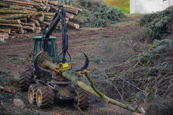 Chantier Forestier | Porteur John Deere 1410 & 4 Pelleteuses | Parmentier Frères