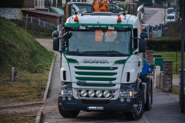 Transport d'Engins Forestier | Scania R730 & 164L V8 | Parmentiers Frères Epinal