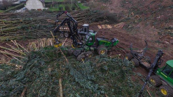 Chantier Forestier | Abattage | John Deere 1470E | Porteurs Logest 4F & John Deere 1410