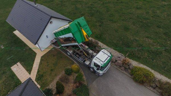 Livraison de Plaquette Forestière chez Particulier | Scania P400 & Caisson Souffleur | Parmentier Frères
