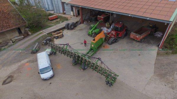 Semoir Amazone Condor 15001 C de 15 Mètres & Case 450 Quadtrac | Semis de Blé 2016