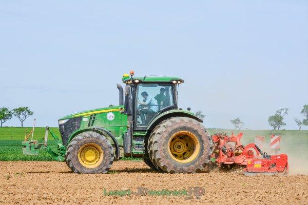 Préparations des Terres avant Semis | John Deere 7260R & Herse Rotative Maschio 8 Mètres !