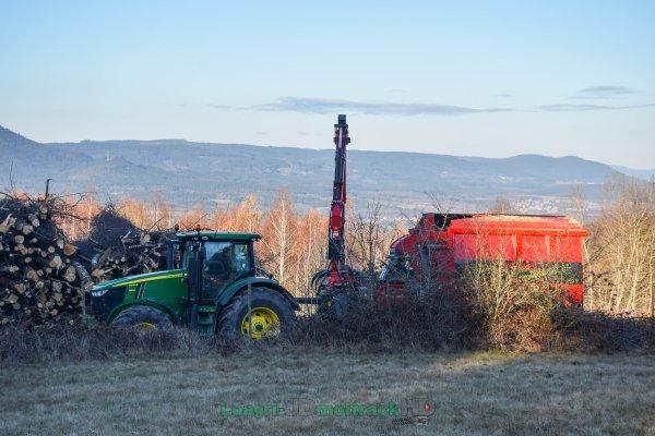 Broyage de Bois 2016 | Broyeur Autonome Ufkes Green Tec Hantsh & John Deere 7270R | Vosges Energie Bois