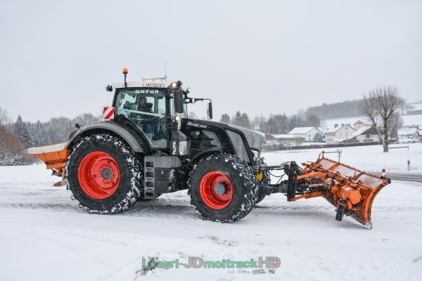 Déneigement 2017 | Fendt 828 S4 Black Beauty