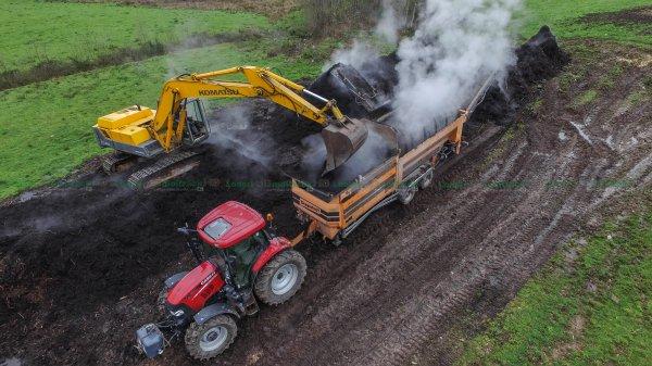 Criblage pour Composte | Doppstadt SM518 & Case Maxxum 120
