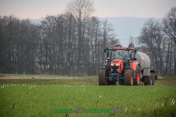 Epandage de Lisier 2017 | Kubota M7.171 KVT & Jeantil GT12500