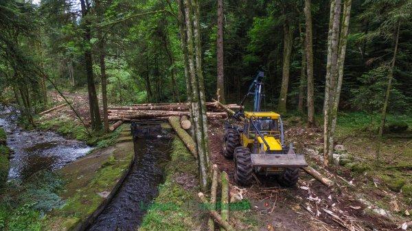 BIG HSM 6 roues | SARL Perrin & Fils au Débardage de bois 2017 !