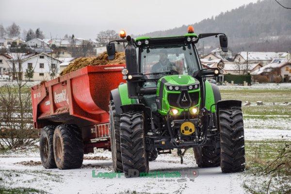 Transport de Fumier 2018 : Nouveau Deutz Fahr 6140 TTV !