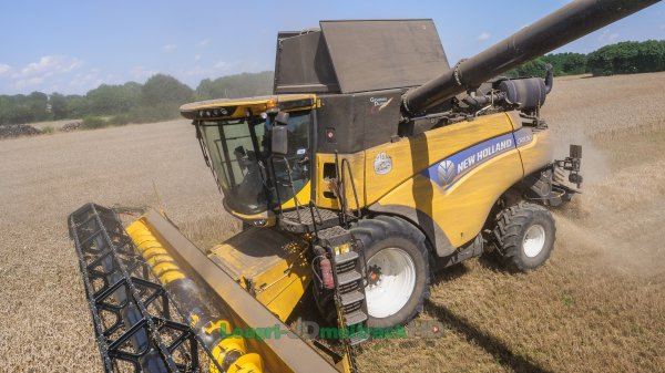 Transbordeur 46m3 & T7.315HD Blue Power + CR8.90 : Moisson 2018 !