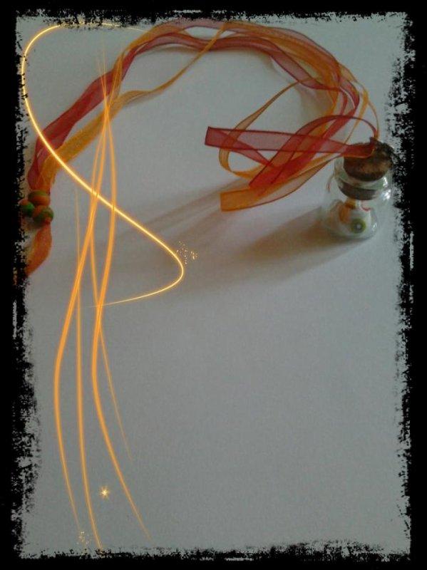 Collier fiole meringue 9¤