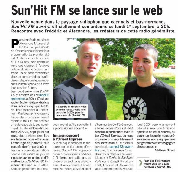 Lanement de la radio Sun'Hit FM