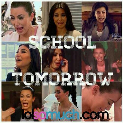 Ya Ecole demain ! Ma reaction :