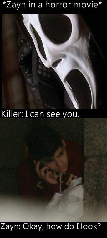 Zayn dans un film d'horreur