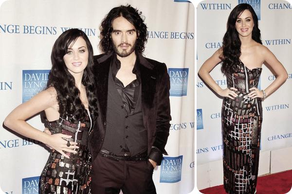 """13/12/10; Katy et Russel étaient présents au """" 2nd Annual Change Begins Within """" à N-Y. Katy est magnifique ! <3"""