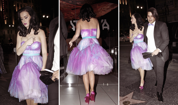 "05/01/11; Katy et Markus Molinari quittant les People's Choice Awards pour se rendre au restaurant ""Kastuya"" à Los-Angeles."