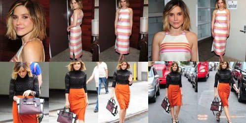 Leaving her hotel + Rachael Ray Show Backstage