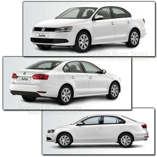 Volkswagen Jetta Elle a ainsi acquit en 2009 son premier véhicule hybride : une Volkswagen Jetta blanche.