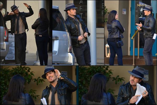 22/01/2019 :  Ian Somerhalder en pleine discussion avec une femme inconnue a été aperçu à Beverly Hills