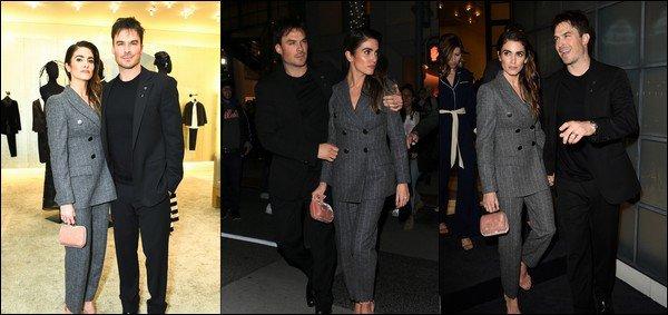 23.02.2019 :Ian était avec sa femme Nikki à un cocktail privé organisé par Giorgio Armani à Beverly Hills Notre couple en a également profité pour se balader dans la vie de Beverly Hills de nuit , ils sont tellement mignons tous les deux