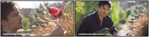 04.03.2019 :Voici un tout nouveau Photoshoot de Ian S. pour la marque de son vin Dark II Dawn . Nous retrouvons Ian cette fois-si faisant la promotion de son nouveau vin dont il est fière : Dark II Dawn qu'il met en vente!