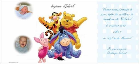 faire part bapteme winnie