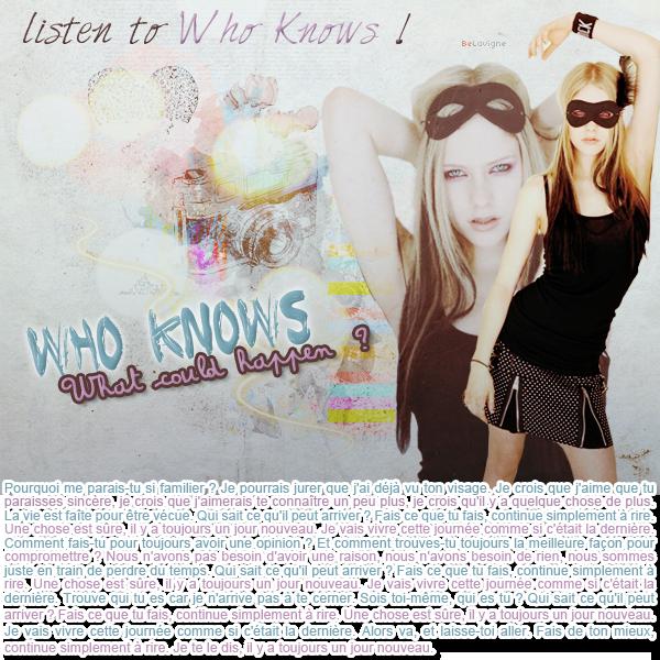 ArticleXVII :: L'envers de la chanson Who Knows.