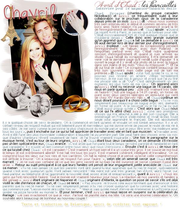 Article XVIII :: Hors série vie privée ; Chavril, les fiançailles !