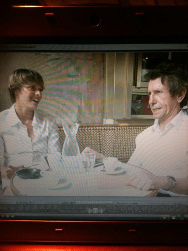 moi et l humoriste Pierre Pechin souvenirs des sketchs joués ensemble