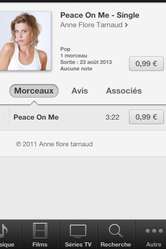 "MON SINGLE ""peace on me"" DISPONiBLE"