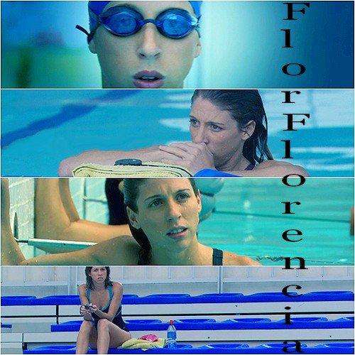 Florencia à la piscine
